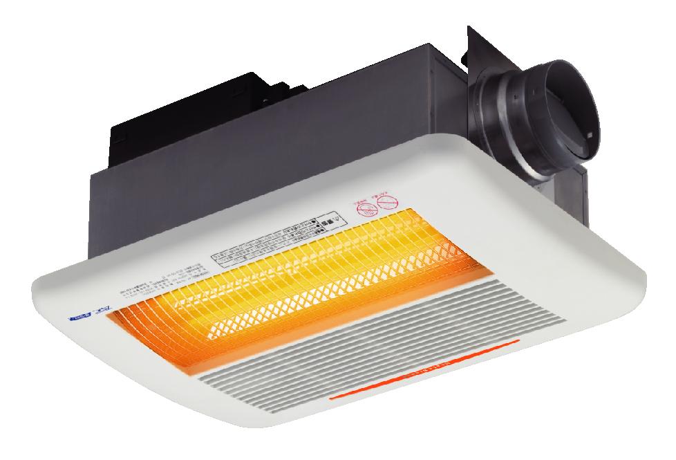 浴室暖房と換気・衣類乾燥を兼ね備えた浴室換気乾燥暖房機。ビルトインタイプ(天井埋め込み)から壁掛けタイプ、電気式、ガス式、グラファイトヒーター